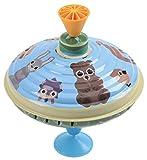 Bolz 52365 - Brummkreisel Waldtiere, Ø 16 cm, Blech Schwungkreisel, Musikkreisel erzeugt mehrstimmige Töne, Spielzeugkreisel für Kinder ab 1,5 Jahre, Blechkreisel aus Metall mit Wald Tieren