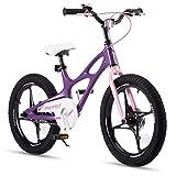 RoyalBaby Kinderfahrrad Jungen Mädchen Space Shuttle Magnesium Fahrrad Stützräder Laufrad Kinder Fahrrad 16 Zoll Violett