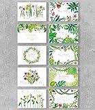 PremiumLine Geburtstagskarten Set mit Umschlag, 10 Stück, umweltfreundliche, hochwertige Klappkarte gedruckt auf edlem Naturkarton, Glückwunschkarte Flora mit Natur Pflanzen Motiv, 11,5 x 17,5 cm
