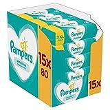 Pampers Sensitive Feuchttücher 15 Packungen Mit Feuchttüchern = 1200 Feuchttücher, Mit Dem...