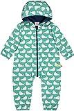 loud + proud Baby-Unisex Wasserabweisender Overall Aus Bio Baumwolle, GOTS Zertifiziert Schneeanzug, Grün (Jade Jad), 56 (Herstellergröße: 50/56)