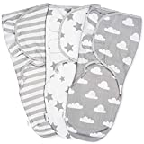Baby Pucksack Wickel-Decke - 3er Pack Universal Verstellbare Schlafsack Decke für Säuglinge Babys...