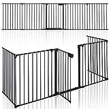 KIDUKU® Kaminschutzgitter Metall 305 cm | Absperrgitter faltbar | Konfigurationsgitter inkl. 5...