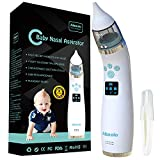 Elektrischer Nasensauger für Babys USB Wiederaufladbarer- Nasenreiniger mit 4 Silikonspitzen (2 Verschiedene Größen) und 3 Einstellbaren Saugstärken für Neugeborene und Kleinkinder - Wunderbare Musik