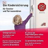 1 x ISI SAFE Fenster, Balkon- und Terrassentürensicherung, Montage ohne Werkzeug, keine Beschädigung am Fenster, auch im Urlaub sicher, geprüft