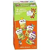 HiPP HiPPiS Quetschbeutel Mixpack, 4 verschiedene Geschmacksrichtungen, 100% Bio-Früchte ohne...