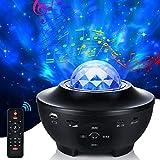 LED Sternenhimmel Projektor, 21 Modi Galaxy Light Rotierendes LED Sternenlicht 10 Farbwechselnde...