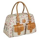 LÄSSIG Baby Wickeltasche Babytasche Kliniktasche Stylische Tasche Mama inkl. Wickelzubehör/Vintage Mero Bag, Rosebud Fairytales