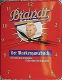 Brandt Marken Zwieback Baby Blech Uhr Flach Neu 20x26cm VU529-1