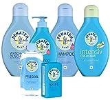 Penaten Wasch- und Dusch-Set, bestehend aus:Wasch+Duschcreme 400ml, Bad+Shampoo 400m l, Shampoo 400ml, Cremebad 400ml, Pflegeöl 500ml, Seife 100g