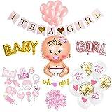 SicurezzaPrima Babyparty Deko Mädchen Set XXL - 48 Teile - Dekoration Baby Shower für Mädels -...