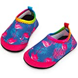 Yorgou Baby Strandschuhe Schwimmschuhe Badeschuhe Wasserschuhe Schnelltrocknende Aquaschuhe rutschfest Barfuss Schuh für Kinder Beach Pool, Flamingo / Violett, 19/20 EU