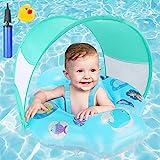 Baby Schwimmring, joylink Aufblasbare Baby Schwimmhilfe mit Abnehmbarem Sonnendach und Verstellbar...