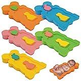 Baby Badeschwamm Sitzschwamm Badeunterlage Für Babys ab der Geburt Gr.MAXI (Blau)