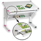 CARO-Möbel Kinderschreibtisch Philipp - mit Schublade höhenverstellbar, neigbar - Schreibtisch...