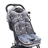 Souarts Universal Kinderwagen Sitzauflage Sitzkissen Baumwolle atmungsaktiv Sitzeinlage für Baby Kinderwageneinlagen Winter Unterlage Buggy 35x78 cm