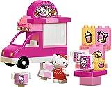 Big Spielwarenfabrik Bloxx Hello Kitty Eiswagen Bausteinset mit 26 Teilen inkl. 1 Hello Kitty Spielfigur verbaubar mit bekannten Spielsteinen für Kinder ab 1,5 Jahren