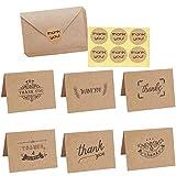 Dankeskarten, 108 Stücke Brown Kraftpapier Dankeskarten,Vintage Niedlichen Geschenkkarten mit...