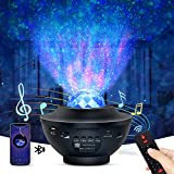 OTTOLIVES LED Sternenhimmel Projektor Baby Nachtlichter Projektor Lampe Sternenhimmel Lampe, mit Fernbedienung und Timer, Bluetooth Lautsprecher, für Geburtstagsfeier Hochzeit Schlafzimmer (Schwarz)