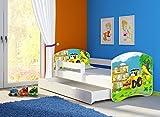 Clamaro 'Fantasia Weiß' 180 x 80 Kinderbett Set inkl. Matratze, Lattenrost und mit Bettkasten...