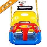 IMMEK Babyschaukel 3 in 1 Babysitz verstellbar und mitwachsend Schaukelsitz Gartenschaukel für Baby...