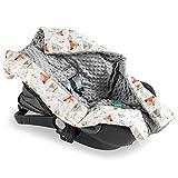 Navaris Einschlagdecke für Babyschale - universal Baby Decke für u.a. Maxi Cosi Römer Cybex...
