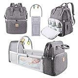 Baby Wickelrucksack Wickeltasche, Eccomum Rucksack Babysachen mit Wickelauflage für Unterwegs,...