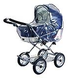 sunnybaby 10020 - Universal Regenverdeck, Regenschutz für EXTRA GROSSE Kinderwagen, Babywanne, Soft-Tragetasche | Kontaktfenster für optimale Luftzirkulation | glasklar | Qualität: MADE in GERMANY