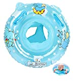 Vohoney Schwimmring Baby Schwimmreifen Schwimmtrainer Aufblasbarer Swimming Ring PVC Baby Schwimmhilfe Spielzeug Kleinkinder 6 Monate bis 36 Monate Babys Kleinkinder (Blue Baby Schwimmring)