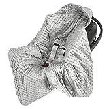 Einschlagdecke für Babyschale Kinderwagen Autositz - universal baby Decke z. B. Maxi Cosi, Buggy...