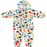 Regenmäntel für Kinder mit Kapuze - Regenanzug Wasserdicht Overall Regencape für Jungen Mädchen...