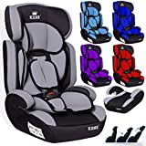 KIDIZ® Autokindersitz Kinderautositz ✓ Gruppe 1+2+3 ✓ 9-36 kg ✓ Autositz ✓ Kindersitz   Stabil und Sicher   Grau