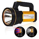 MAYTHANK Taschenlampe Led Extrem hell mit 4 Batterien 10000mah Akku USB Aufladbar Handscheinwerfer Handlampe Wiederaufladbarer Gross Suchscheinwerfer Wasserdicht Flashlight Laterne