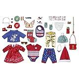 Zapf Creation 828472 BABY born Adventskalender mit 24 Kleidungs- und Accessoire-Überraschungen für...