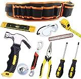 QeeHeng 10-teiliges Starter-Set für Kinder mit Hammer, Kindersicherung, Zange, Schraubenschlüssel,...