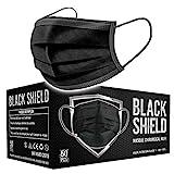BLACK SHIELD - CE Zertifiziert - Schwarze Medizinische Gesichtsmaske gemäß DIN EN 14683 Typ I -...
