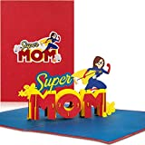 PaperCrush® Pop-Up Karte Super Mom - Lustige 3D Geburtstagskarte für die beste Mama der Welt -...