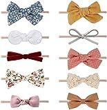 DRESHOW 10 Stück Baby Haarband Baby Stirnbänder Baby Mädchen Nylon Stirnband Neugeborene...