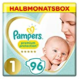 Pampers Premium Protection Windeln, Gr. 1, Halbmonatsbox (1 x 96 Windeln)