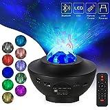 Opard LED Sternenlicht Projektor Sternenhimmel Lampe Rotierende Wasserwellen Projektionslampe, Kinder Nachtlicht Baby Sterne Lampe mit Fernbedienung/Bluetooth/Timer für Kinder Erwachsene Zimmer
