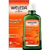 WELEDA Arnika Massage-Öl, pflegendes Naturkosmetik Körper Öl gegen Verspannungen und Verkrampfungen der Muskeln, ideal für vor und nach dem Sport 200 ml