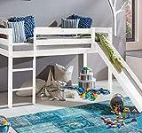 Farbe Weiss Kinderbett Hochbett mit rutsche Leiter Hochbett Spielbett Kiefer Massiv