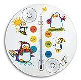 TFA Dostmann Pinguin Analoges Fensterthermometer, 14.6016.02, ideal fürs Kinderzimmer, leichte...