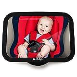 Rücksitzspiegel fürs Baby, Bruchsicherer Auto-Rückspiegel für Babyschale, Autositz-Spiegel ohne...