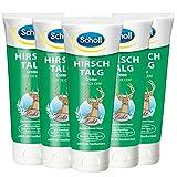 Scholl Hirschtalg-Creme – Reichhaltige Creme zur Vorbeugung von Hornhaut, Blasen & Hautreizungen – 6 x 100 ml Fußcreme für rissige Füße
