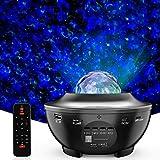 LED Sternenhimmel Projektor Lampe Nachtlicht Galaxy Projektor, Eingebautem Bluetooth Musiklautsprecher für Party Weihnachten Ostern und Kinder Erwachsene Zimmer Dekoration schwarz