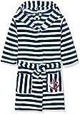 Playshoes Kinder Fleece-Bademantel Ringel Maritim, Accappatoio Bimbo 0-24, Blu (Marine/Weiß 171),...