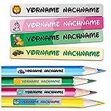 60 x Namensaufkleber Wunschname personalisiert je 4,5x061cm Aufkleber mit Kinder Name Beschriftung Schule Kindergarten Kleidung Sticker (Nr. 41 Komplett Set, Für schmale Oberflächen)