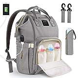 Baby Wickeltasche Wickelrucksack, mit USB-Lade Port Kinderwagen-haken Isolierte Tasche für...