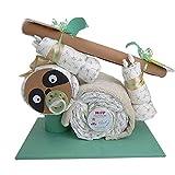 Windeltorte Faultier - Babygeschenk, für deine Babyparty - Premium Windelgeschenk mit LILLYDOO Windeln